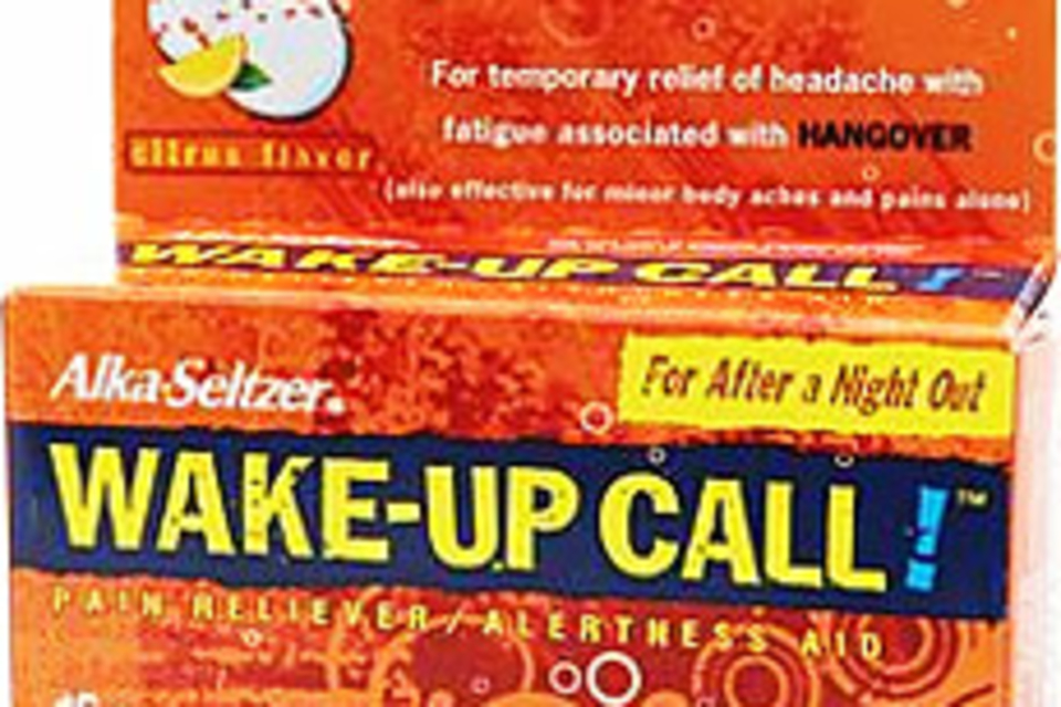 Alka-Seltzer Wake-Up Call