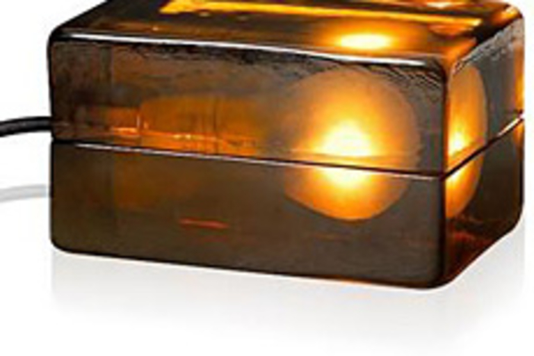 Amber Block Lamp