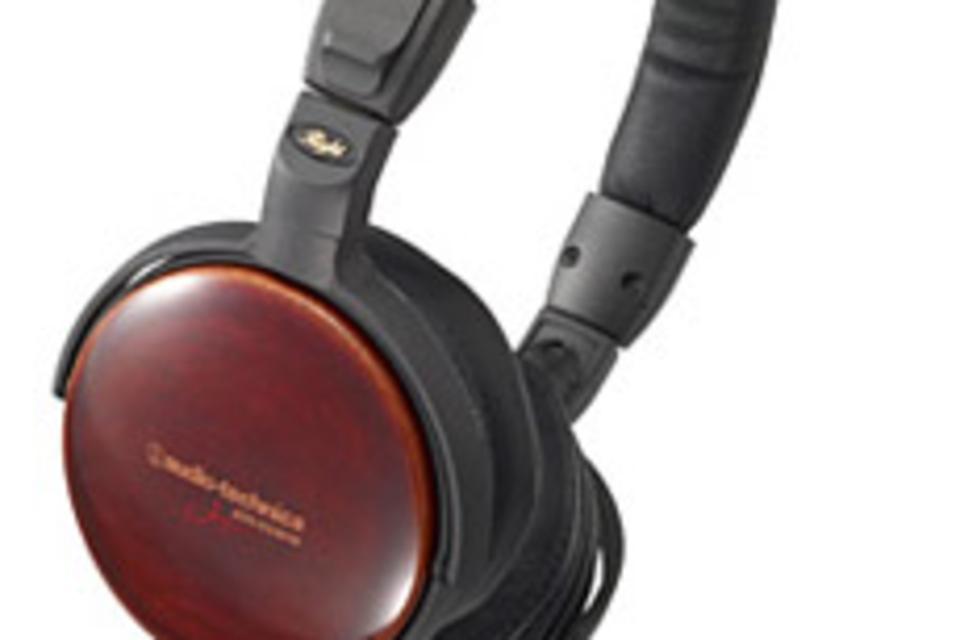 Audio-Technica Black Cherry Wood Headphones