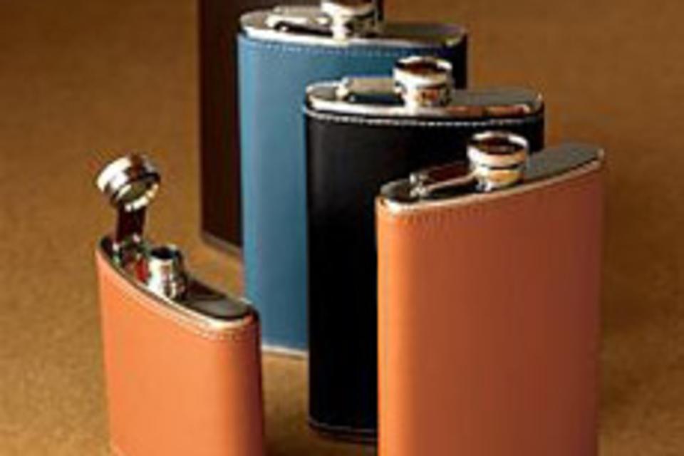 Belden Leather Flask