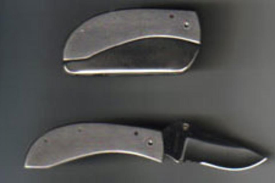 how to make a belt buckle knife