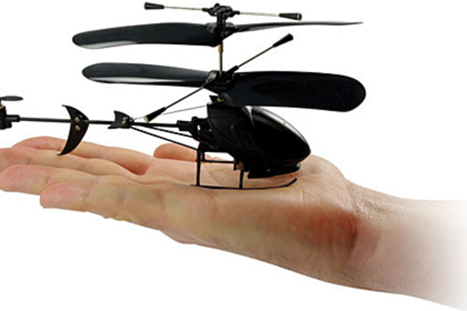 Black Stealth 3-Channel R/C Helicopter