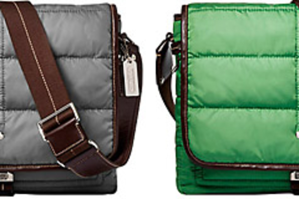 Coach Quilted Nylon Map Bag