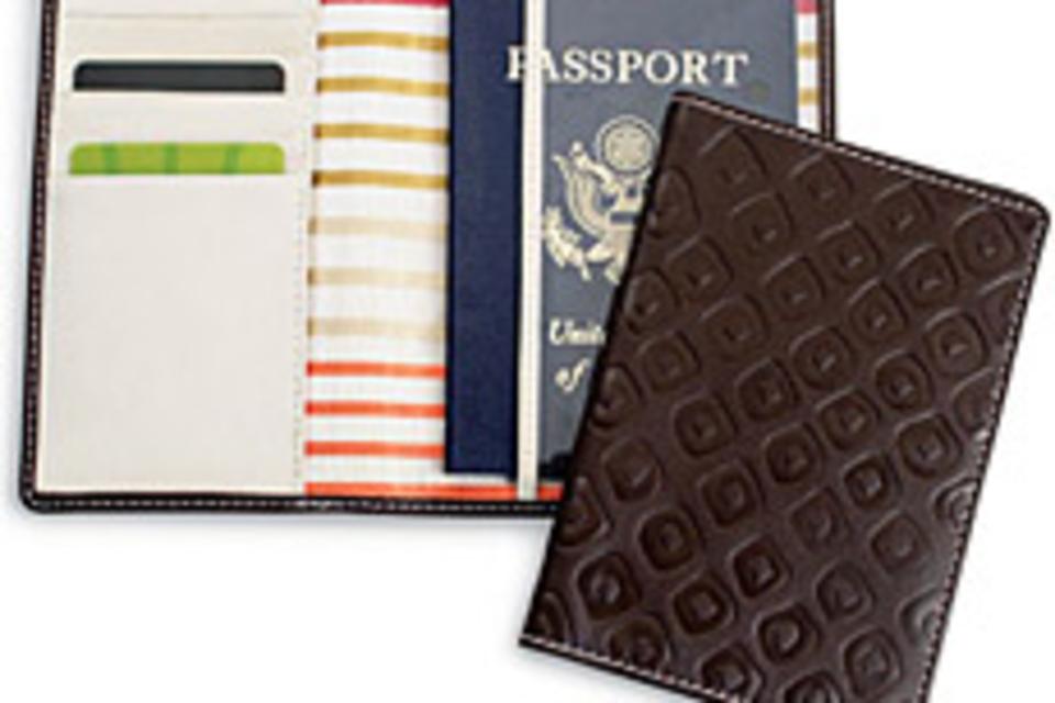 Embossed Passport Wallet