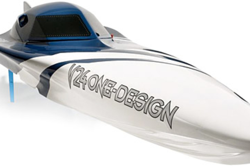 Gas-Powered Remote Controlled Speedboat