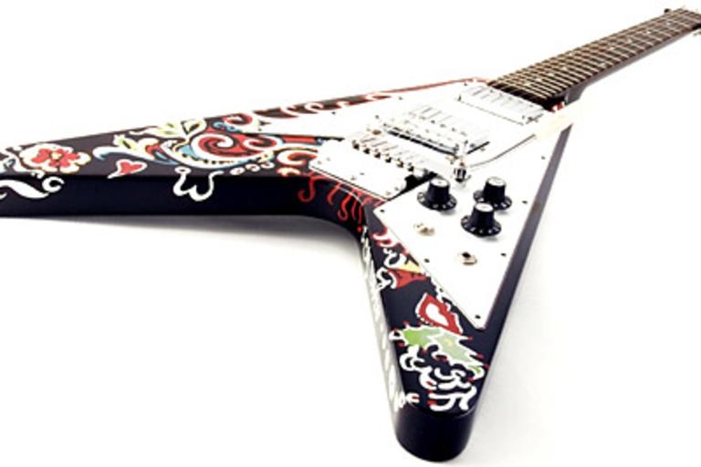 Jimi Hendrix Psychedelic Flying V