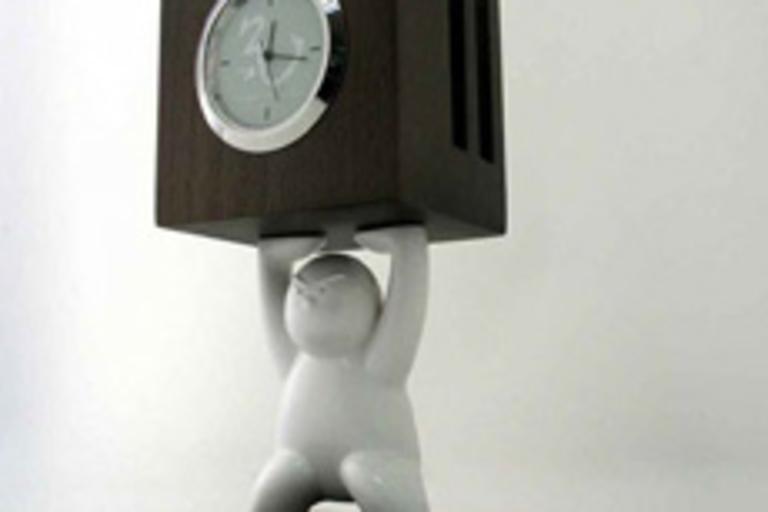 Kung Fu Kids Clock & Card Holder