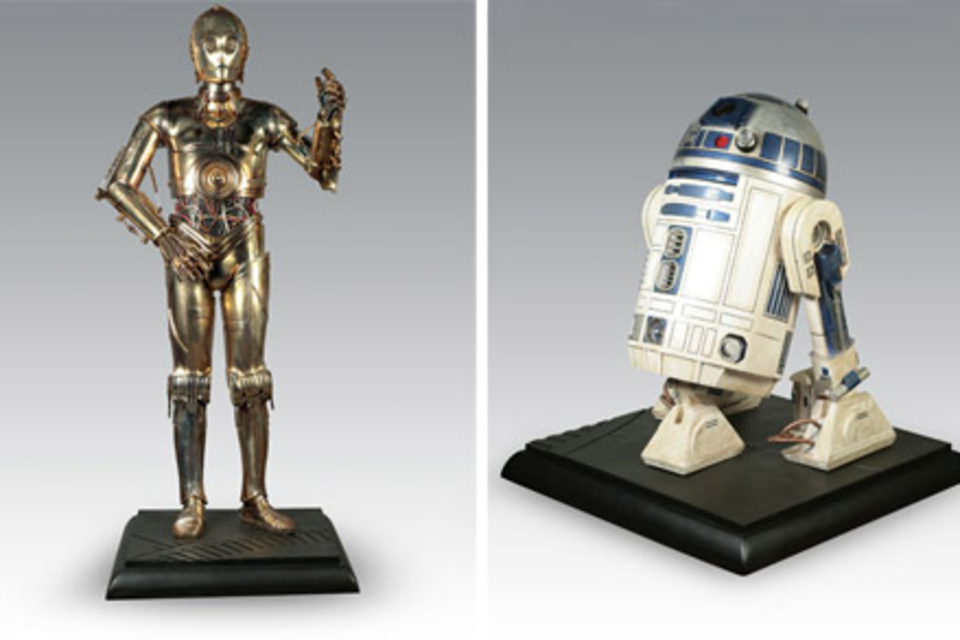 Life-Size C-3PO and R2-D2