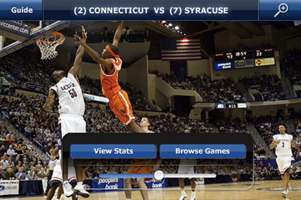 CBS Sports NCAA March Madness iPhone App