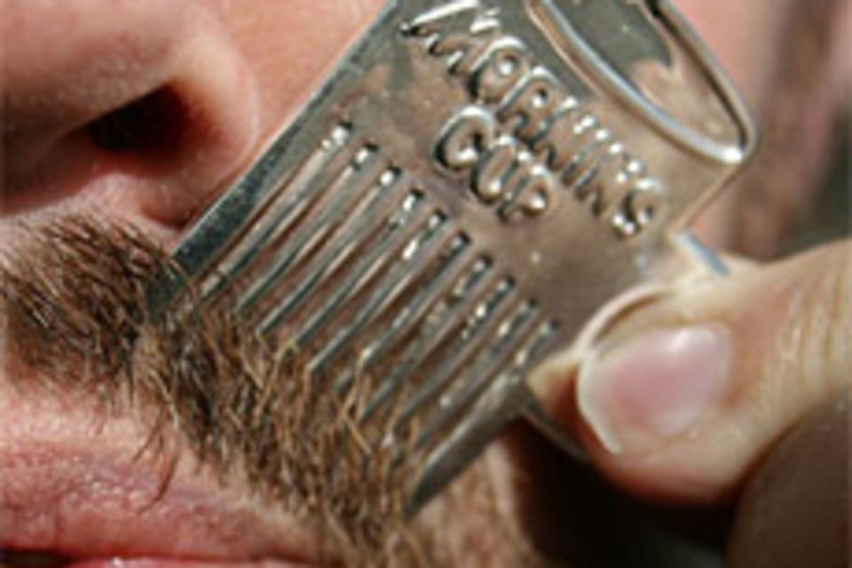 Mustache Comb Necklace