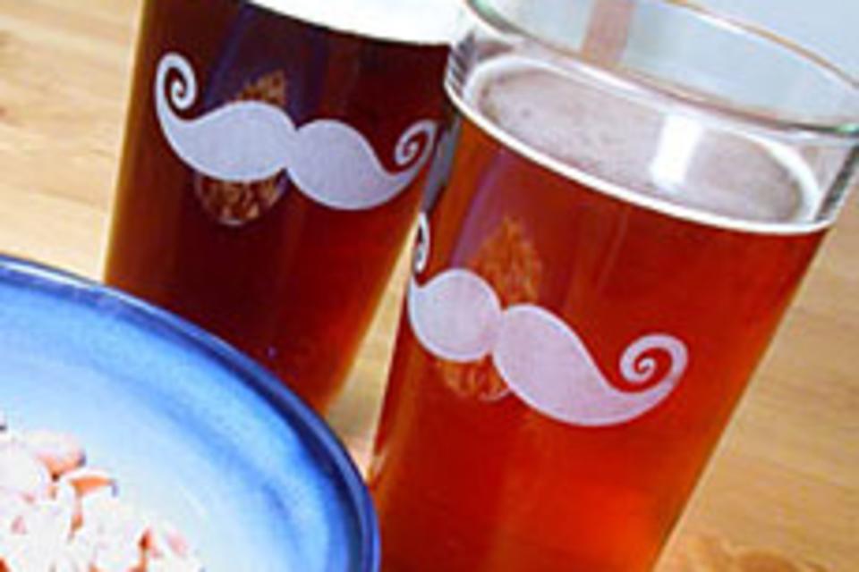 Mustache Pint Glass