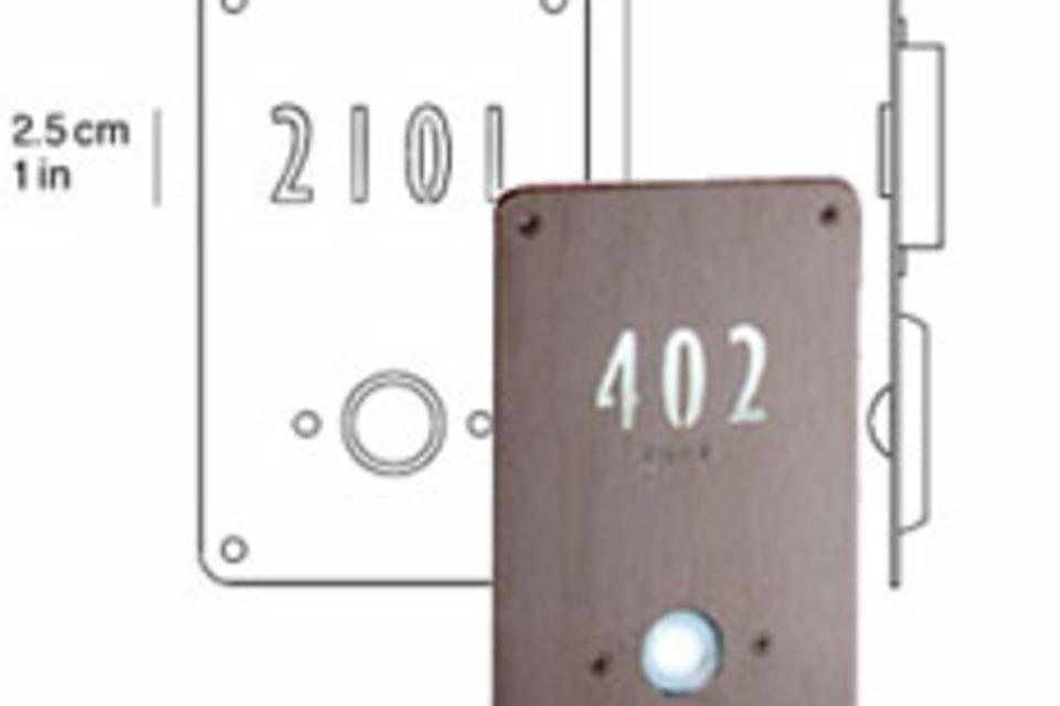 Illuminated Doorbell & House Numbers