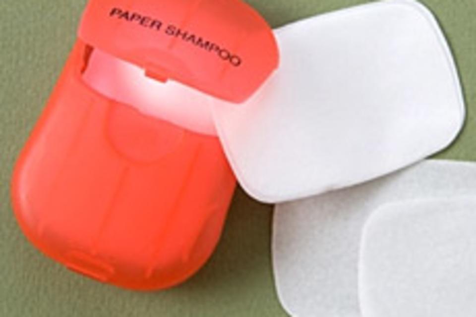 Dissolving Paper Shampoo