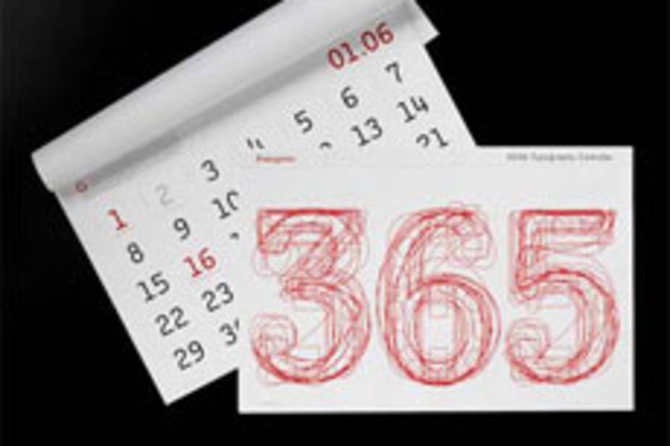 Pentagram 2006 Large Calendar