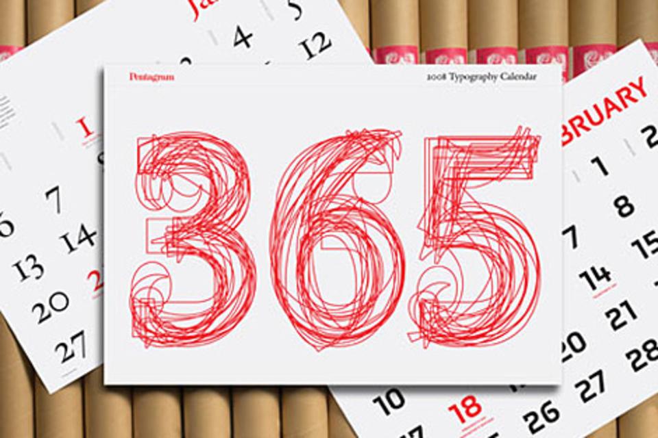 Pentagram 2008 Typography Calendar