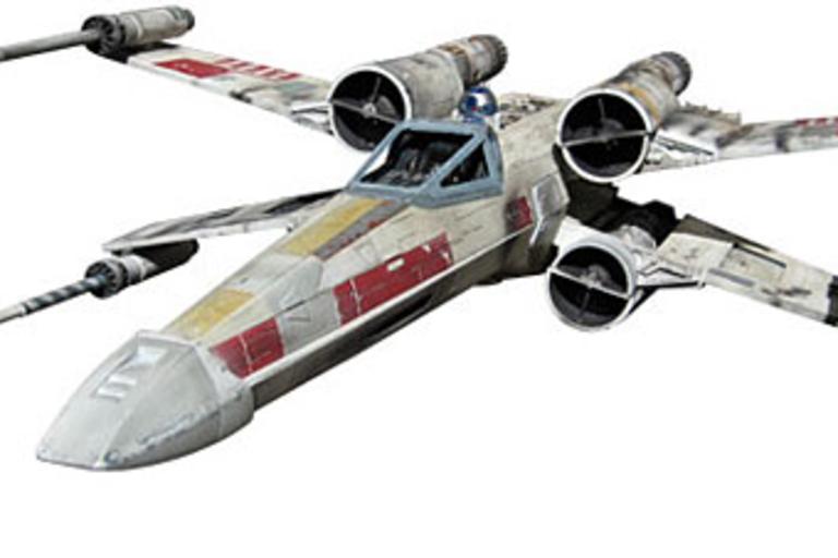 Luke Skywalker's Red Five X-Wing Model