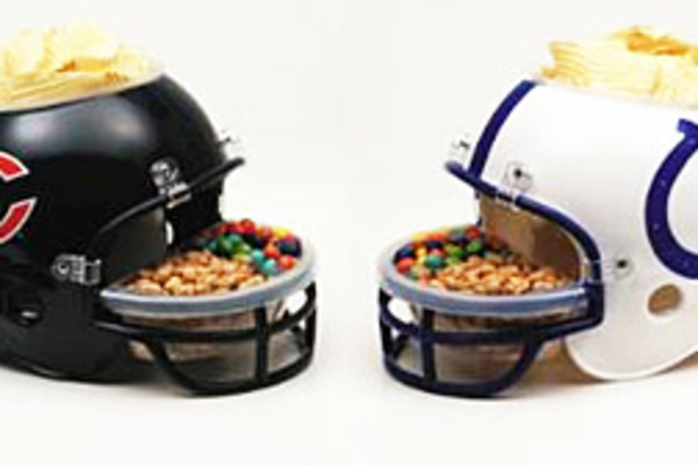 Bears vs. Colts Snack Helmets