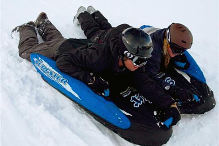 Surfster Double Black Ice Snow Sled/Ski Tube
