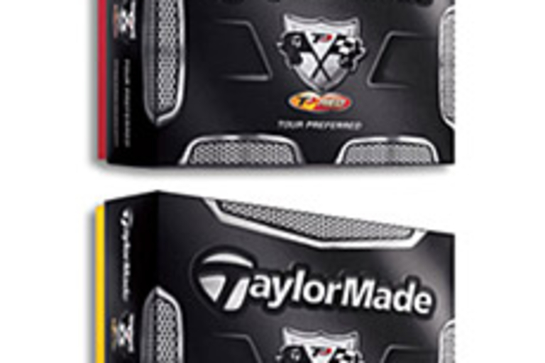 TaylorMade TP Red and Black Golf Balls