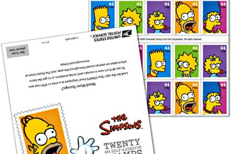The Simpsons Postage Stamps
