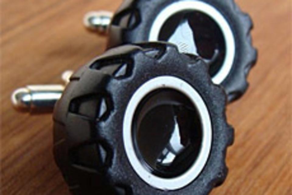 Toy Wheel & Tire Cufflinks