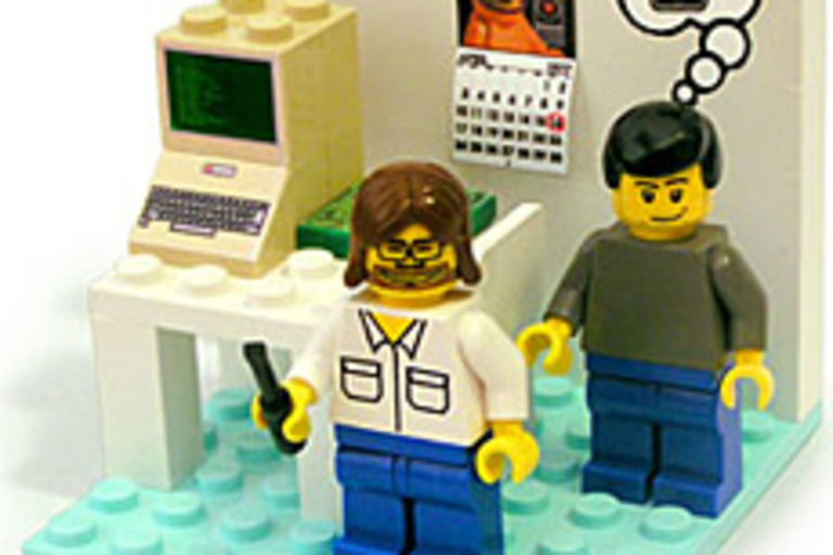 PodBrix Young Woz and Jobs Playset