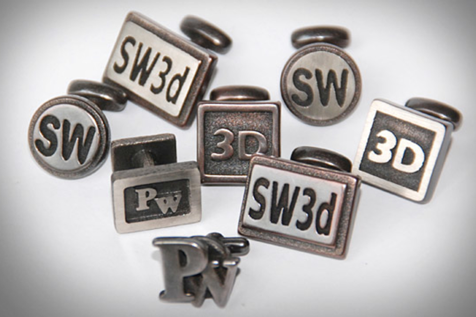 Custom 3D Printed Metal Cufflinks