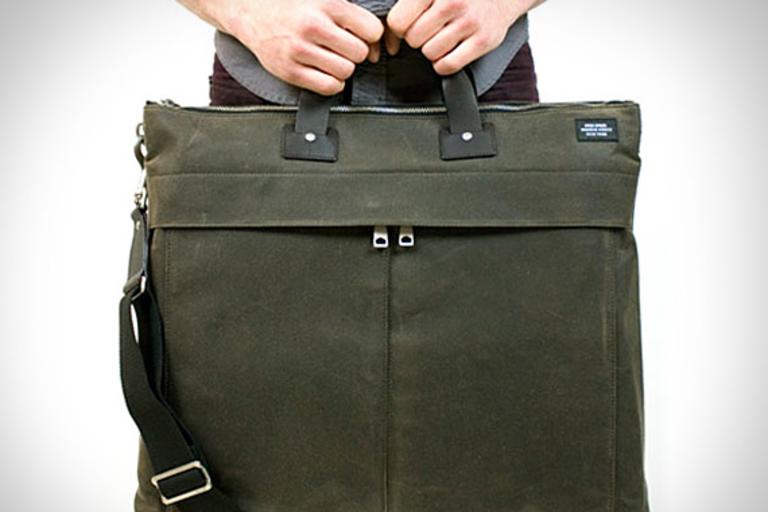 Jack Spade Waxwear Flat Utility Bag