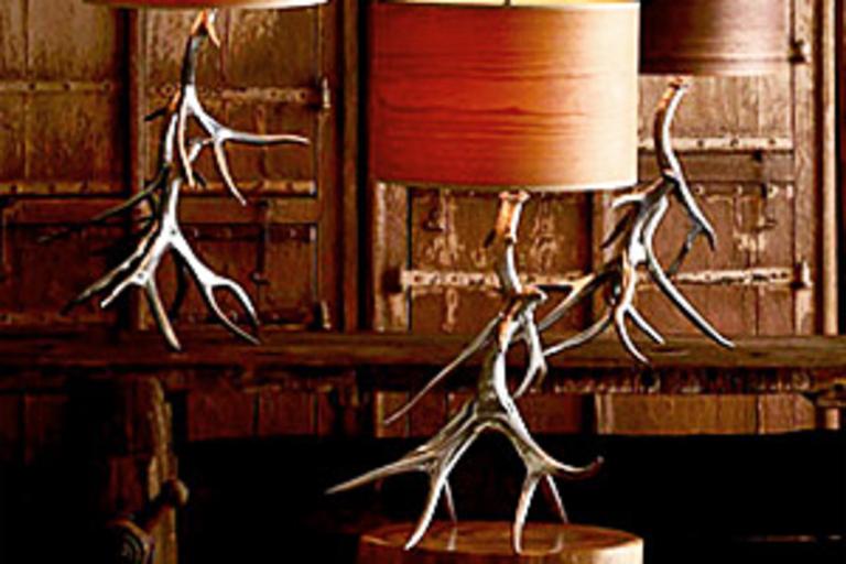 Roost Aluminum Antler Lamp