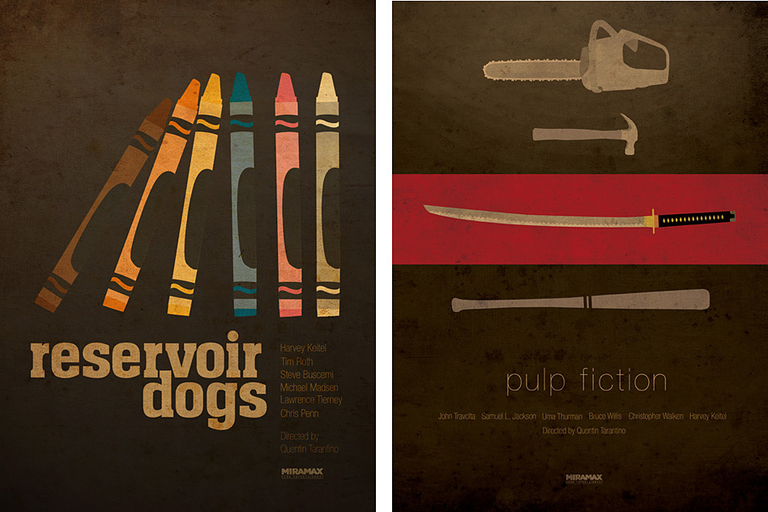 Quentin Tarantino Tribute Posters