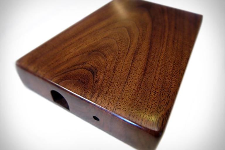 Solid Wood Hard Drive Enclosures