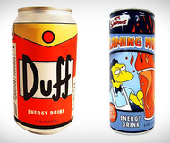 The Simpsons Duff Beer & Flaming Moe Energy Drinks