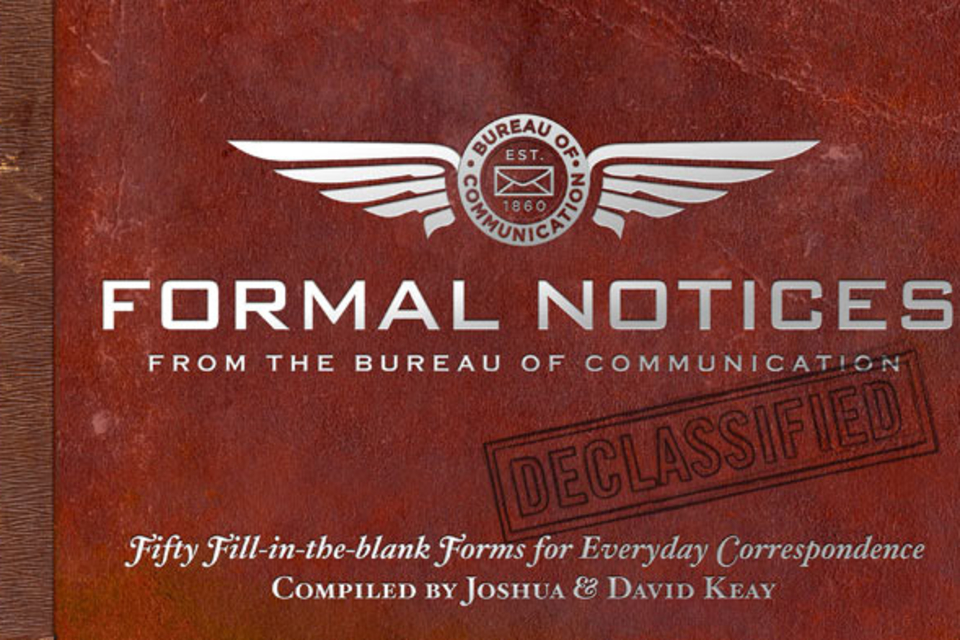 Formal Notices From The Bureau Of Communication