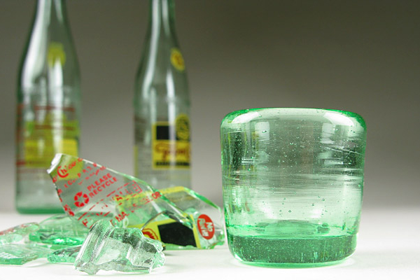 Blown Recycled Bottle Shot Glass