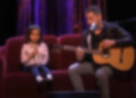 Father-Daughter Sing Home