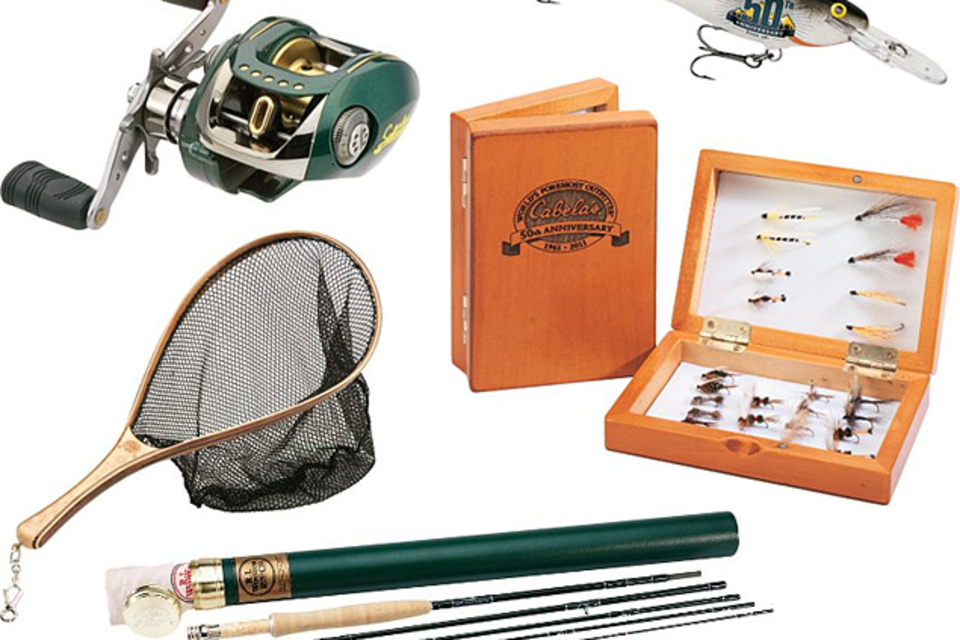 Cabela's 50th Anniversary Fishing Gear