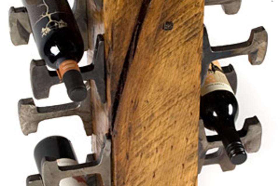 Rail Yard Wine Rack | Uncrate