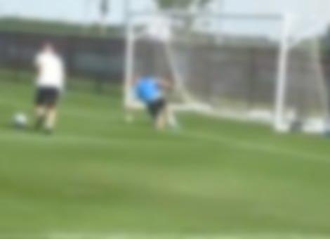 Zinedine Zidane Messes With Goalkeeper