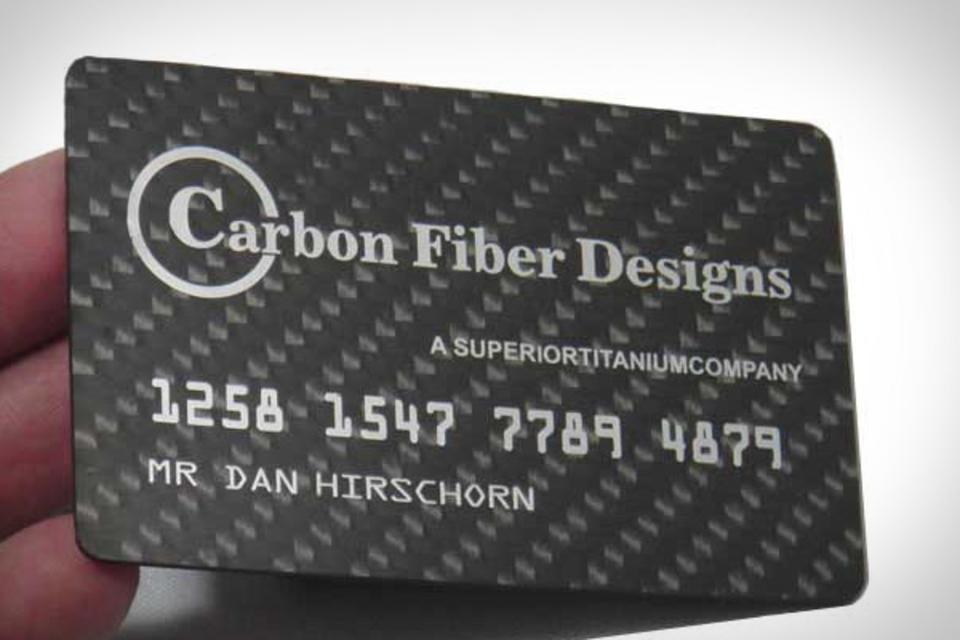 Carbon Fiber Business Cards