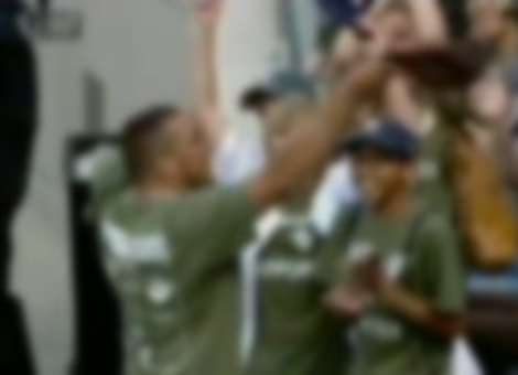 Wounded Vet Catches Foul Ball