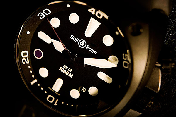 Bell & Ross Infiniti Carbon Case Purple 8 Pro Dial Watch