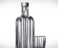 Absolut Crystal Pinstripe Bottle