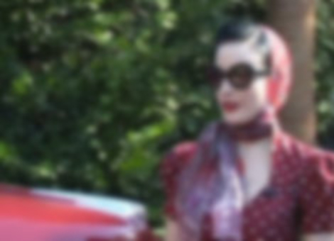 Driving With Dita Von Teese