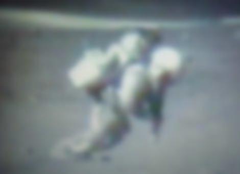 Astronauts Falling On The Moon