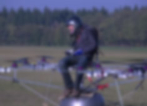 First Manned Flight of Electric Multicopter