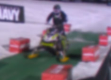 First Snowmobile Front Flip