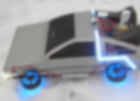 Flying RC DeLorean