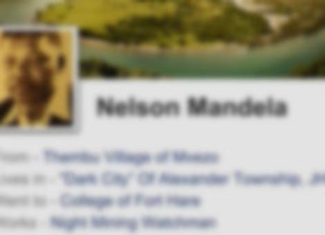 Mandela's Timeline