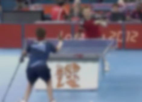 Amazing Paralympic Ping Pong Shot