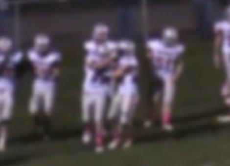 High School Football Star Offers Touchdown Tribute
